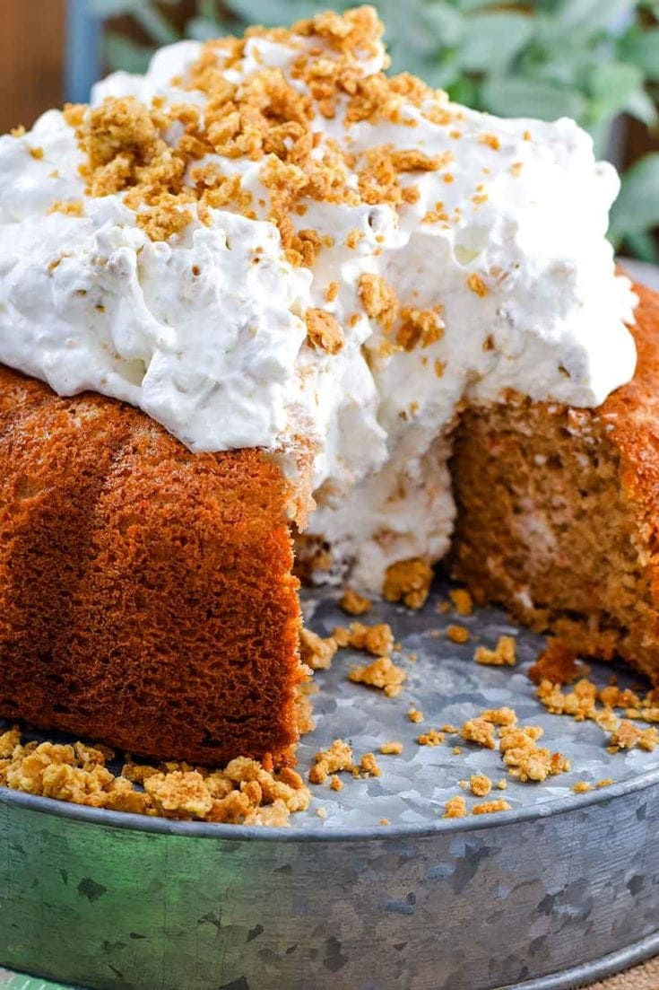 Easy Carrot Cake with Whipped Cream Icing