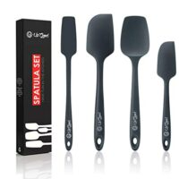 Silicone Spatula Set | 4 Versatile Tools Created for Cooking, Baking and Mixing