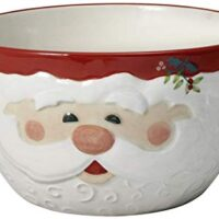 Pfaltzgraff Winterberry Jolly Santa Sculpted Bowl