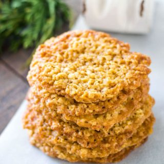 Stacked Easy Oatmeal Lace Cookies
