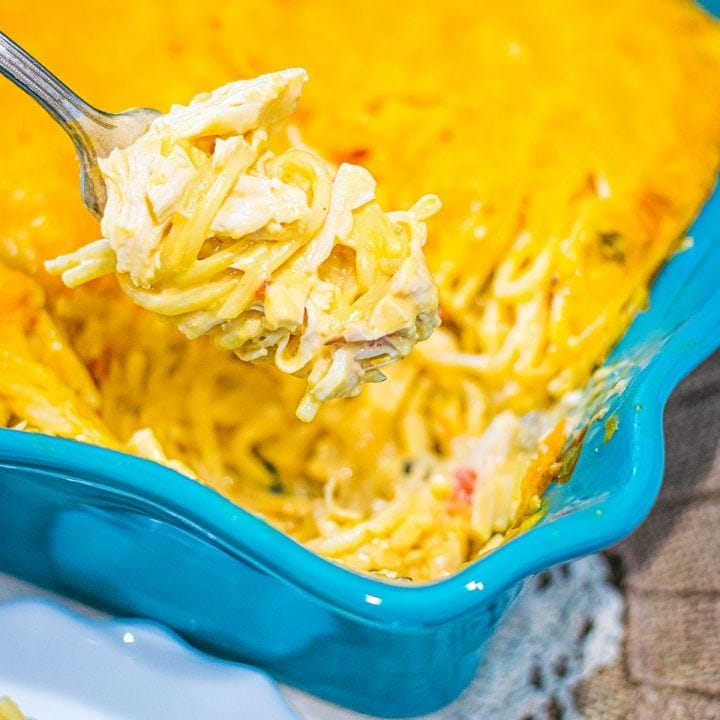 Baked Chicken Spaghetti Casserole