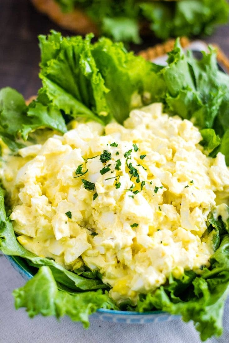 Classic Egg Salad on a bed of Greens