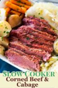 Corned Beef and Cabbage Pinterest image.